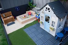 How to create an epic outdoor play area for kids - including a cubby house and DIY sandpit Backyard kids play area Creating an epic outdoor play area for your child - STYLE CURATOR Backyard Playground, Backyard For Kids, Backyard House, Backyard Play Areas, Playground Ideas, Small Garden Play Area Ideas, Baby Garden Ideas, Back Yard Ideas For Small Yards, Childrens Play Area Garden