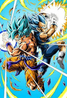 blue kaioken Goku and blue evolution Vegeta in dragon ball super broly Blue Dragon Anime, Shiro Anime, Super Anime, Goku Super, Son Goku, Dragon Ball Gt, Otaku, Anime Characters, Draw