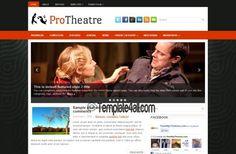 Theater Art Grunge Wordpress Theme Template #wordpress #theater #art