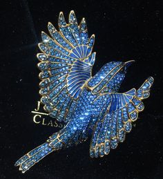 Joan Rivers Blue Bird of Happiness Brooch Pin Signed Numbered Limited Edition #JoanRivers