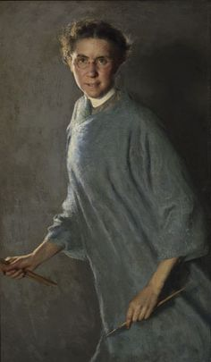 A self portrait by Margaret Foster Richardson, painted in 1912