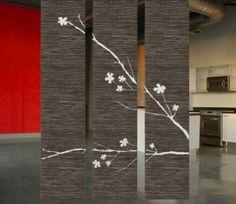 raumteile-dunkle-farbe- schöne deko - 42 kreative Raumteiler Ideen für Ihr Zuhause