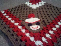 Crochet ~ Sock Monkey Baby Blanket