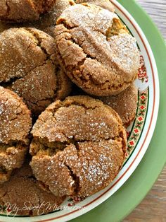 Our family-favorite Old-Fashioned Molasses Sugar Cookies are thick and chewy, have just the right spice and are a little crispy around the edges! And, are great for holiday dessert platters and for gift giving. Best Cookie Recipes, Candy Recipes, Dessert Recipes, Molasses Cookies, Sugar Cookies, Holiday Desserts, Just Desserts, Christmas Baking, Christmas Recipes