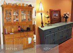 From China Cabinet To Buffet Ive Done This Before And Had The Local Mirror Dining Room HutchDining