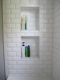 shower niche beveled subway tile
