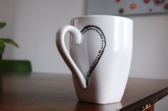 I can craft that!: Valentines Tea for Two dot painted ceramic mugs