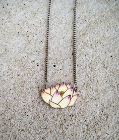Lotus Shrink Plastic Necklace by DOODLEWORM on Etsy