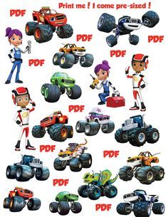 Blaze The Monster Machines Clipart Images Instant Download Etsy Blaze The Monster Machine Instant Download Etsy Clip Art