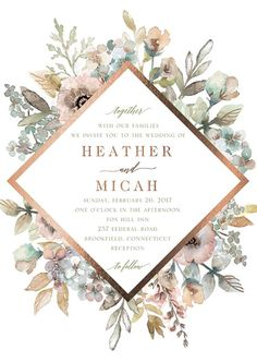 Blossom invitation by Wedding Paper Divas