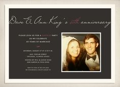 Anniversary invitation by LeaDelaverisDesign on Etsy