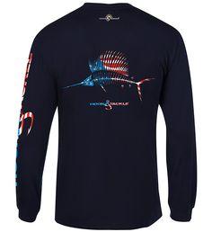 Men's American Sailfish L/S UV Fishing T-Shirt