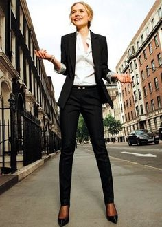office outfit with black blazer