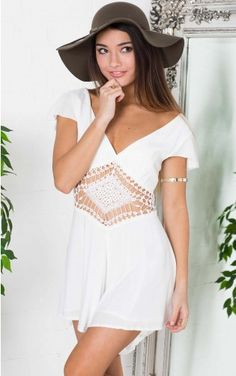 Net You playsuit in white
