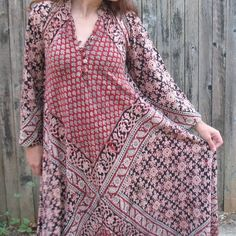 Indian Block Print Dress | indian dress, block printed