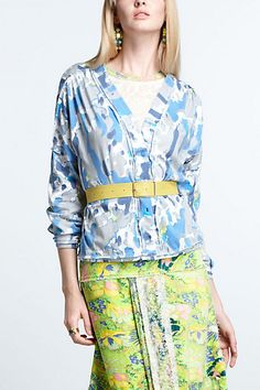 Blueberry Lime Cardigan #anthropologie