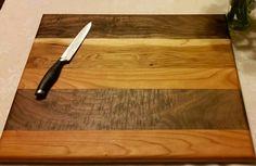 Butcher Block Cutting Board, Hickey, Black Walnut, Cherry Cutting Board, Cutting Board, Wedding Gift, Housewarming Gift, Custom by WaverlyGrains on Etsy