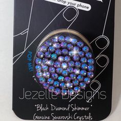 You NEED this gadget!  Genuine Swarovski Crystal Custom Hand Jeweled PopSockets by Jezelle Designs!  Get yours today and change your life!!