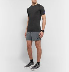 <b><a href='http://www.mrporter.com/mens/Designers/Nike_Running'>Nike Running</a> is committed to helping you achieve your fitness goals.</b> - These 'Aeroswift' shorts are cut from weightless Dri-FIT that's designed to wick sweat away from the skin - Lined with breathable mesh briefs for support - Elasticated drawstring waistband ensures a comfortably snug fit - Internal pockets are ideal for stashing your cards or locker key<br><br>