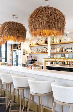 Byron Bay's newest restaurant The Loft featuring Uniqwa Collections Kusila Pendant Lights! Click the link to shop now!