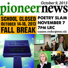 Oh Look! It's the Pioneer News! news.wosc.edu #wosc