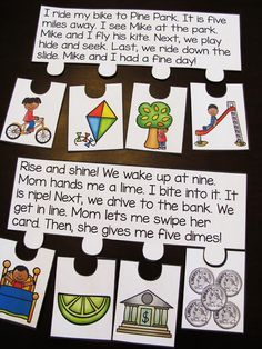 Long vowels fluency puzzles where kids read the story then put the events in order - awesome sequencing, comprehension, and fluency practice all in one! First Grade Reading Comprehension, Phonics Reading, Teaching Phonics, Comprehension Activities, Phonics Activities, Kids Reading, Reading Skills, Teaching Reading, Post Reading Activities