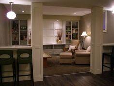 Need to finish basement ......like the half walls between posts