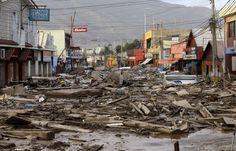 Chile sufre lluvias, inundaciones e incendio forestal; 2015.