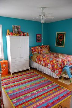 Too much color.  you would need to do white walls and all of that color