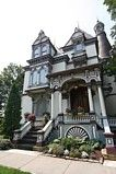 The Batcheller Mansion Inn, Saratoga Springs, NY Victorian Porch, Victorian Houses, Victorian Gothic, Wedding Reception, Wedding Venues, 60th Birthday, Here Comes The Bride, Big Ben, Places To See