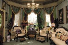 Victorian Wallpaper Sitting Room Traditional