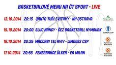 Sledujte basketbal na kanálu ČT @sportCT