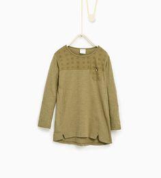 Image 1 de T-shirt basique brodé de Zara