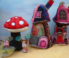 Fabric Fairy Houses