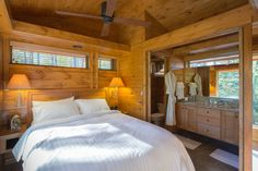 It's called the Escape, 400 sq ft tiny home that is considered a RV for financing purposes - and lookie: no ladder to get up and down from your bed! LOVE that.