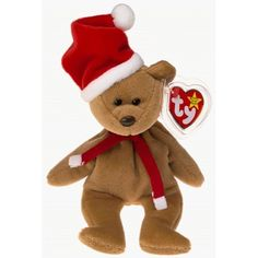 1997 Holiday Teddy Bear - MWMT Ty Beanie Babies Official Ty Beanie Babies Product Mint with Mint Tag Protected, Retired New out of Ty manufacturer's package Purple Teddy Bear, My Teddy Bear, Bear Toy, Beanie Baby Bears, Beanie Babies, Dog Mints, Ty Bears, Plush Animals, Stuffed Animals