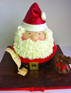 Santa cake - by Carol74 @ CakesDecor.com - cake decorating website