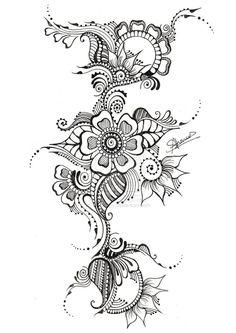 цветы дудлин и мехенди: 5 тыс изображений найдено в Яндекс.Картинках