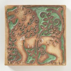 Square Tile Batchelder Tile Company (United States, California, Pasadena, 1909-1932)
