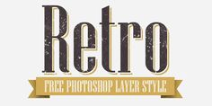 PHOTOSHOP RETRO LAYER STYLE