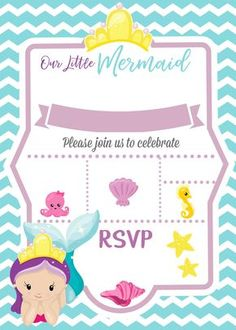 Learn How To Make Your Own Custom Digital Invitation For A Mermaid Under The Sea Party