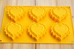 Soap Mold 6-Heart  Cake Mold   Flexible Silicone Mold For Handmade Soap Candle Candy Chocolate Cake Fimo Resin Crafts on Etsy, $5.71 CAD