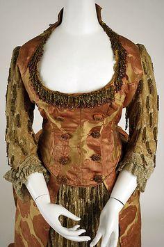 Evening Dress, ca 1886.