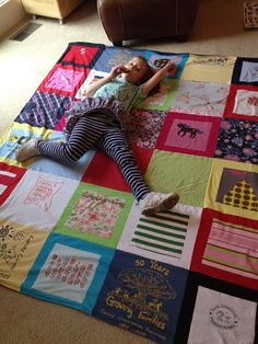 Cherishing the memories with a t-shirt blanket - Project Repat