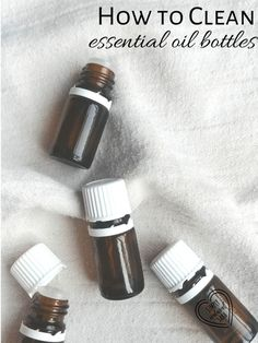 When you have finished the last drop of essential oils, don't throw away the bottles! Learn how to clean them.