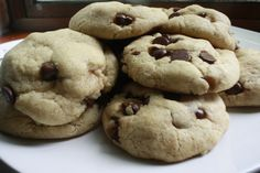 Soft and chewy chocolate chip cookies for a rainy day.