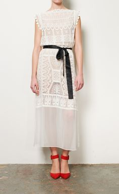 Miguelina White Lace Dress