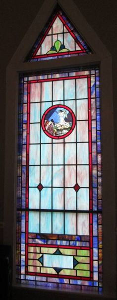 Stained Glass Windows at New Bethel Independent Church in Forest City, NC