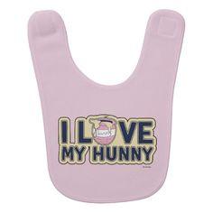 Winnie The Pooh | I Love My Hunny baby bib by Disney.
