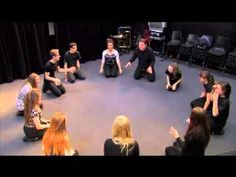 Theatre Game #14 - Frog In The Pond. From Drama Menu - drama games & ide...